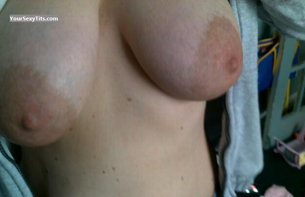 Tit Flash: My Very Big Tits (Selfie) - Twin Peeks from United States
